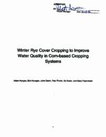 Winter Rye Cover Cropping to Improve Water Quality in Corn-based Cropping Systems