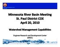Minnesota River Basin Meeting St. Paul District COE [Presentation]