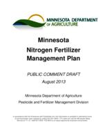 Minnesota Nitrogen Fertilizer Management Plan: Public Comment Draft
