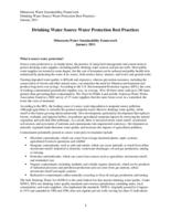 Minnesota Water Sustainability Framework Appendix G Background Papers - Drinking Water Protection Best Practices
