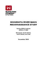 MINNESOTA RIVER BASIN RECONNAISSANCE STUDY [US Army Corps of Engineers]