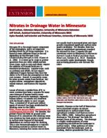 Nitrates in drainage water in Minnesota