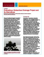 Evaluating a subsurface drainage project and its alternatives