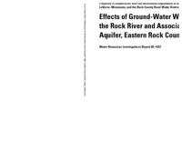 Effects of Ground-Water Withdrawals on the Rock River and Associated Valley Aquifer, Eastern Rock County, Minnesota