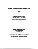 Lake Assessment Program - Big and Mitchell Lakes, Sherburne County