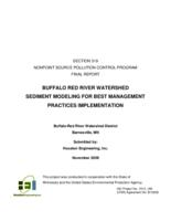 Buffalo Red River Watershed Sediment Modeling for Best Management Practices Implementation