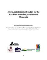 An integrated sediment budget for the Root River watershed, southeastern Minnesota