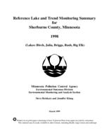 Reference Lake and Trend Monitoring Summary for Sherburne County, Minnesota