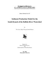 Sediment Production Model for the South Branch of the Buffalo River Watershed