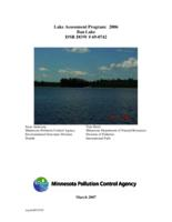 Lake Assessment Program - Ban Lake, St. Louis County