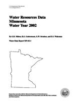 Water Resources Data Minnesota Water Year 2002