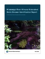 Mississippi River (Winona) Watershed Biotic Stressor Identification Report