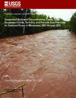 Suspended-sediment concentrations, loads, total suspended solids, turbidity, and particle-size fractions for selected rivers in Minnesota, 2007 through 2011