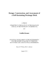 Design, Construction, and Assessment of a Self-Sustaining Drainage Ditch