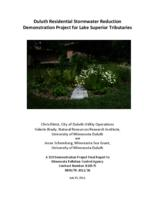 Duluth Residential Stormwater Reduction Demonstration Project for Lake Superior Tributaries