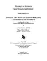 Enhanced Filter Media for Removal of Dissolved Contaminants from Stormwater