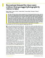 Recreational Demand for Clean Water: Evidence from Geotagged Photographs by Visitors to Lakes