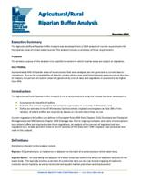 Agricultural/Rural Riparian Buffer Analysis