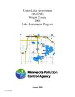 Lake Assessment Program - Union Lake, Wright County