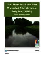 Draft South Fork Crow River Watershed Total Maximum Daily Load