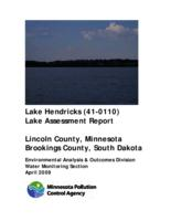 Lake Assessment Program - Lake Hendricks, Lincoln County (Update)