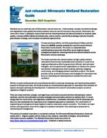 Minnesota Wetland Restoration Guide