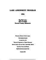 Lake Assessment Program - Big Fish Lake, Stearns County