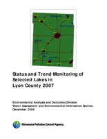 Status and Trend Monitoring of Selected Lakes in Lyon County 2007