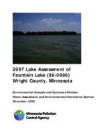 Lake Assessment Program - Fountain Lake, Wright County