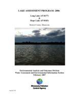 Lake Assessment Program - Long Lake and Hope Lake, Meeker County