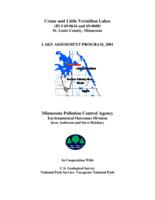 Lake Assessment Program - Crane Lake and Little Vermilion Lake, St Louis County