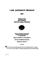 Lake Assessment Program - Fishtrap Lake, Morrison County