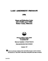 Lake Assessment Program - Dunns and Richardson Lakes, Meeker County