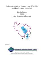 Lake Assessment Program - Howard and Dutch Lakes, Wright County