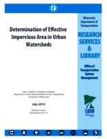 Determination of Effective Impervious Area in Urban Watersheds