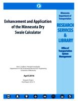 Enhancement and Application of the Minnesota Dry Swale Calculator