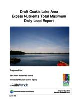 Draft Osakis Lake Area Excess Nutrients Total Maximum Daily Load Report