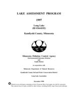 Lake Assessment Program - Long Lake, Kandiyohi County