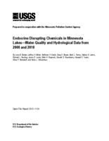 Endocrine Disrupting Chemicals in Minnesota Lakes—Water-Quality and Hydrological Data from 2008 and 2010