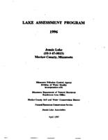 Lake Assessment Program - Jennie Lake, Meeker County