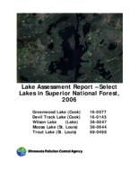 Lake Assessment Report - Select Lakes in Superior National Forest, 2006