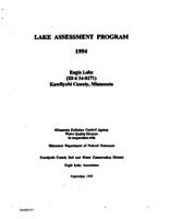 Lake Assessment Program - Eagle Lake, Kandiyohi County