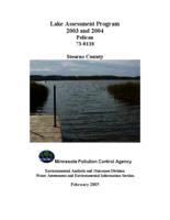 Lake Assessment Program 2003 and 2004 Pelican, Stearns County