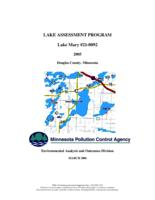 Lake Assessment Program - Lake Mary, Douglas County