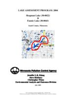 Lake Assessment Program: 2004 Skogman Lake & Fannie Lake, Isanti County, Minnesota