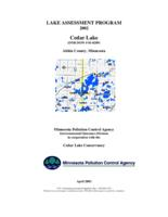 Lake Assessment Program - Cedar Lake, Aitkin County
