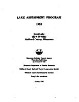 Lake Assessment Program - Long Lake, Hubbard County