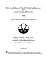 Reference Lake and Trend Monitoring Summary for Isanti County, Minnesota
