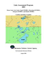 Lake Assessment Program 2003 - Moose Lake Area Lakes: Sand, Moosehead, Sturgeon, and Island, Carlton and Pine Counties