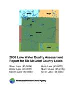 2008 Lake Water Quality Assessment Report for Six McLeod County Lakes